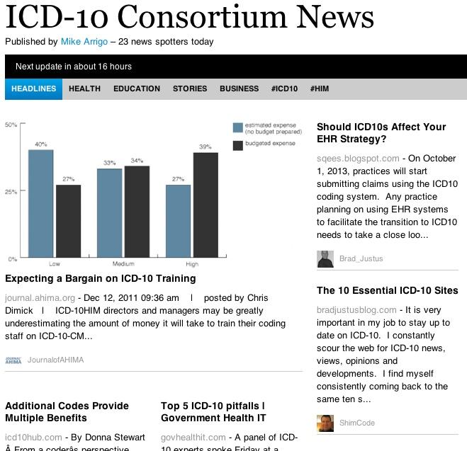 ICD-10 Consortium News