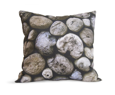 Pillow with driftwood tips image