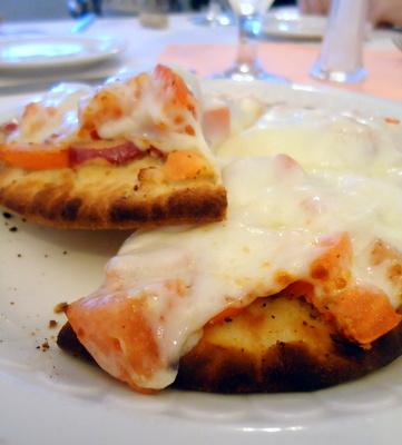old world italian bruschetta pizza