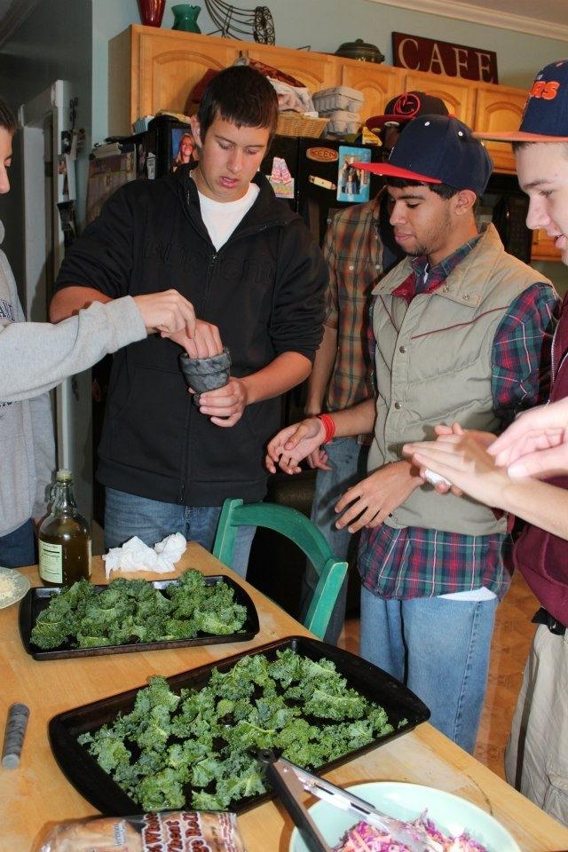Hyde Park Salon boys cooking