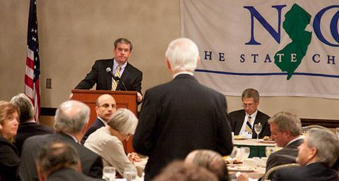 Jeff Chiesa speaks at NJ Chamber roundtable breakfast