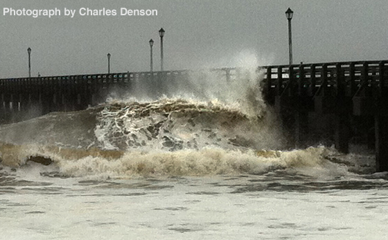 Steeplechase Pier During Sandy