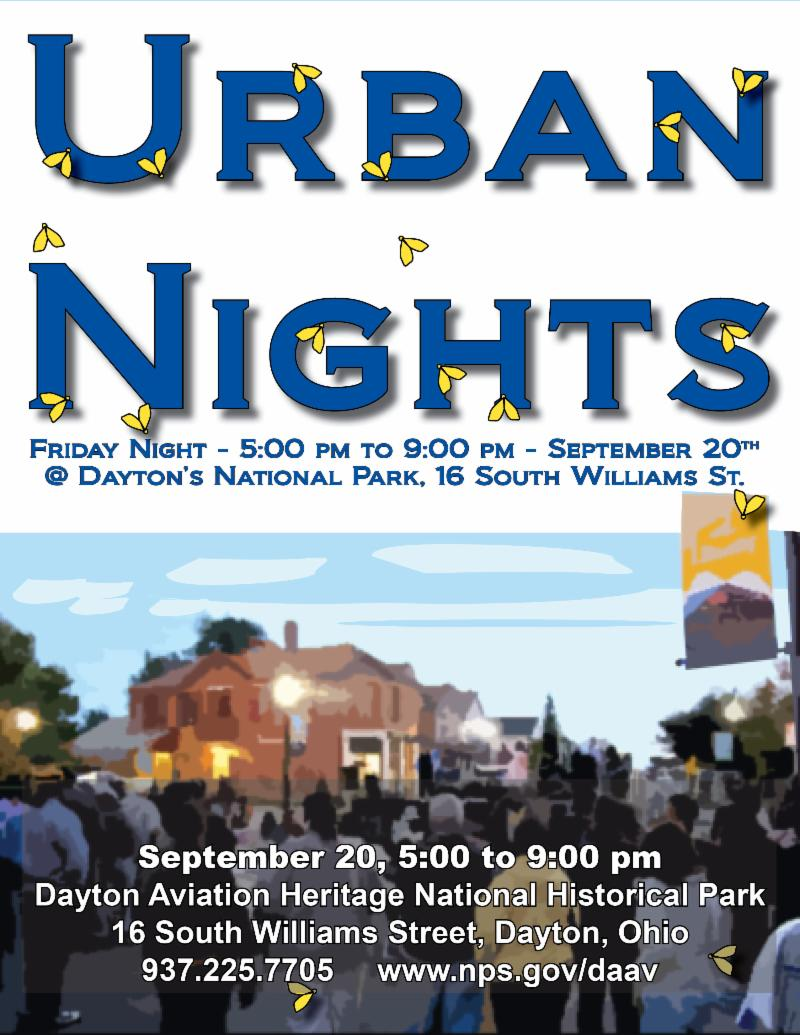Image of National Park Service Urban Nights announcement