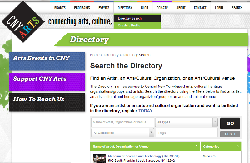Directory Screenshot