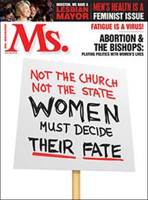 Ms Magazine cover winter 2010