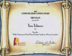 Tina's Award 2012