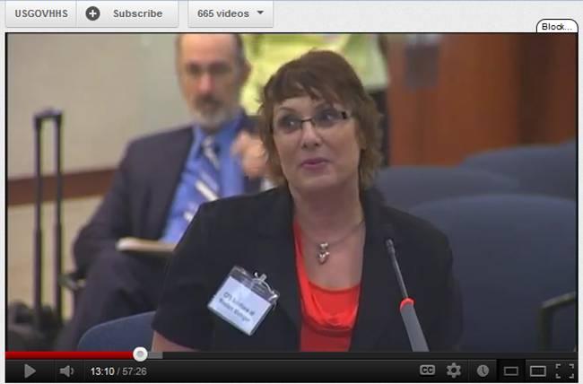 Lori CFSAC Oct. 2012 about PANDORA