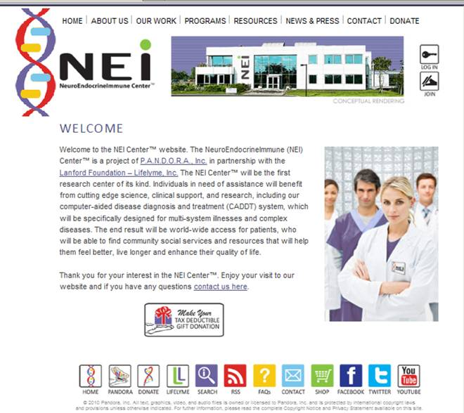 NEI Center home page