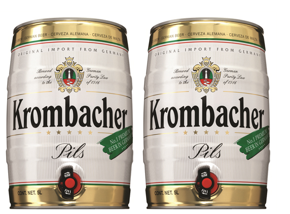 2 kegs of Krombacher Pils 5 liters at a special price of $100!