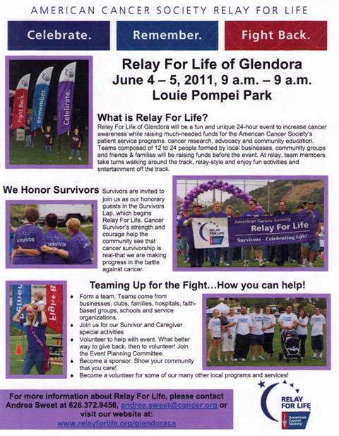 Relay For Life of Glendora