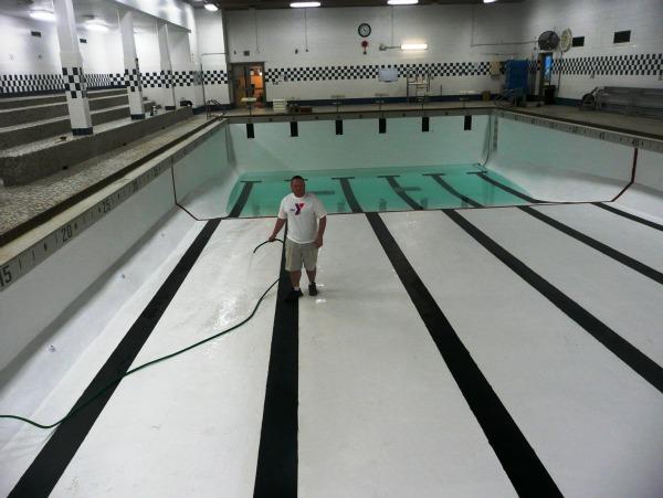 Frank Oliver filling pool