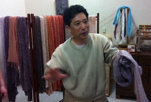 Yamazaki sensei will give us a natural dye workshop