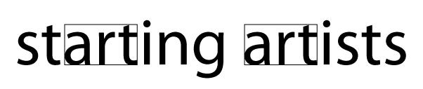 Starting Artists Logo