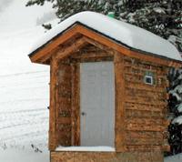 log outhouse