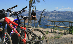 biker at summit