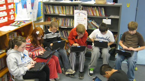 Laptop Students