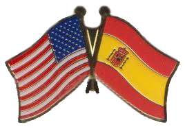 Spain and US Flags