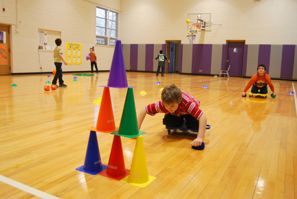 Clay Students Gym Class