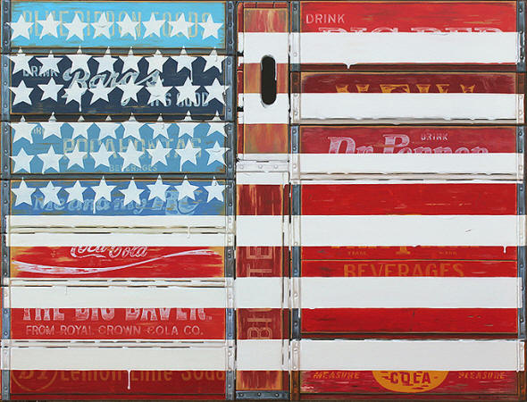 Robert Jackson Paintied Flag