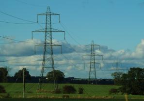 Powerlines in landscape