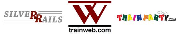 Silver Rails TrainWeb TrainParty Logos