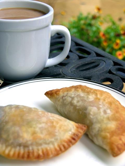 breakfast empanada w/ coffee