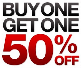 Buy one pair of shoes, get the second pair of shoes of equal or lesser value 1/2 off. Valid online and in-store. Cannot be combined with other coupons or used on prior purchases, refunds, or exchanges. Excludes Gift Cards, Nike, Converse, certain Asics styles, Timberland and Timberland Pro, Super Values, and Pink Sticker Clearance items.