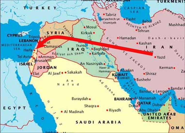 Iran-Israel Map