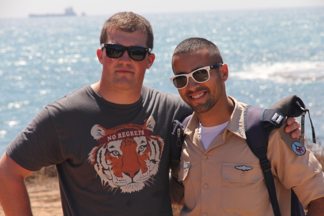 Participant and IDF Soldier
