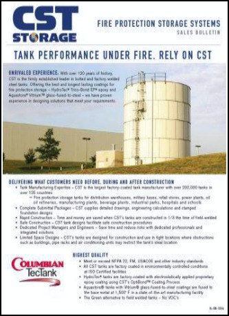 Cst Storage Worldwide Leader In Fire Protection Water