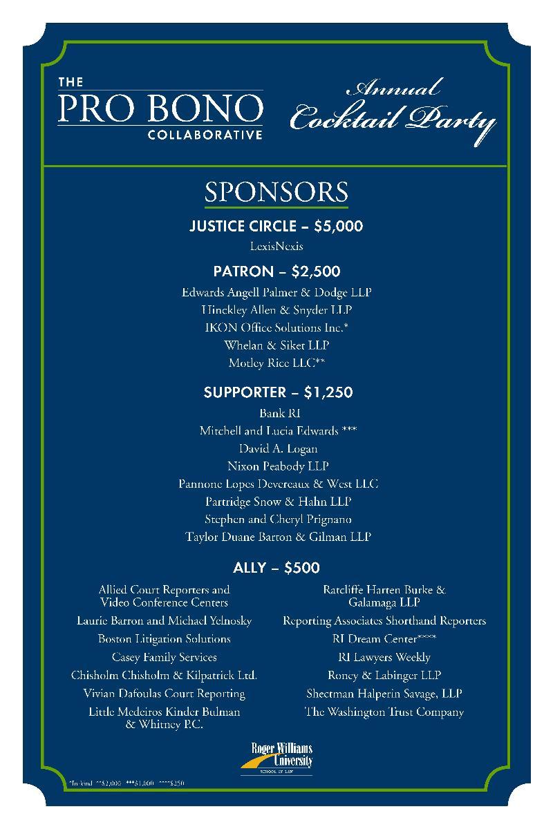 PBC 2011 Event Sponsors