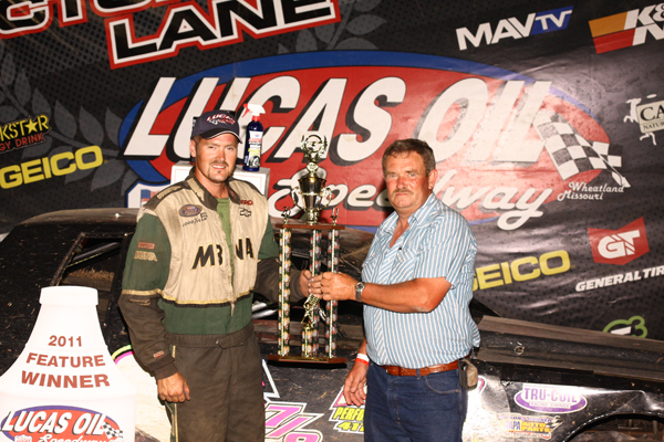 Sundance Keepper in Victory Lane with Keith Small from Nemo Quarry