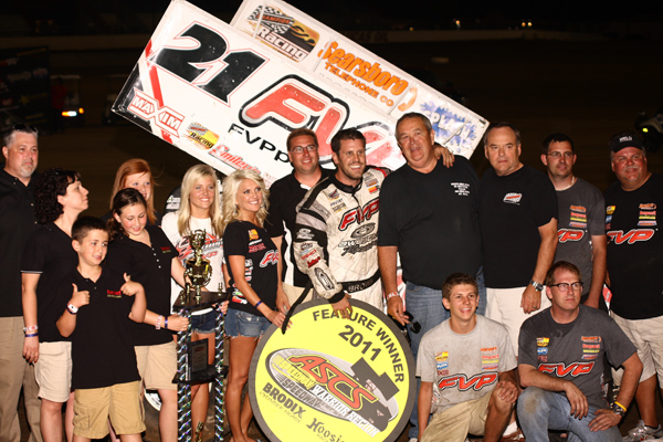 Brian Brown and Crew in Victory Lane