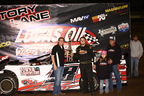 Rylan Long in Victory Lane