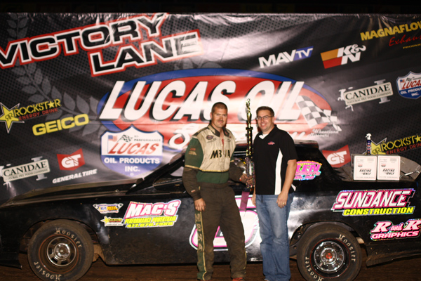 Sundance Keepper in Victory Lane