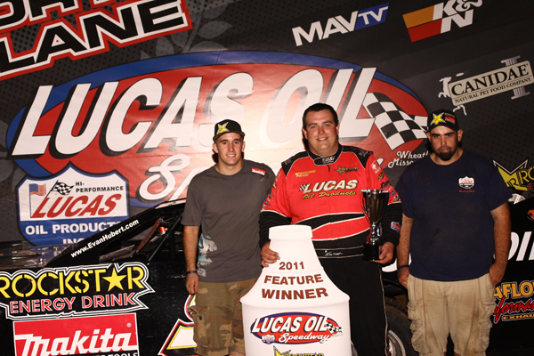 Evan Hubert and Crew in Victory Lane