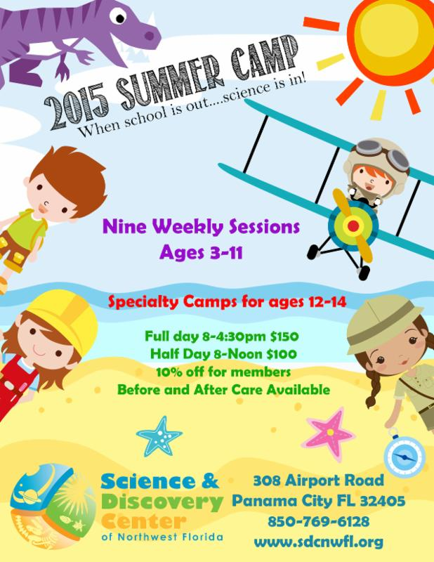 2015 Summer Camp at Science & Discovery Center ……