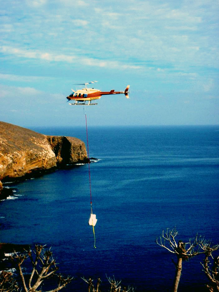 helicopter drop off