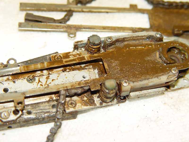 Fluid invasion caused extensive rust in this control body.