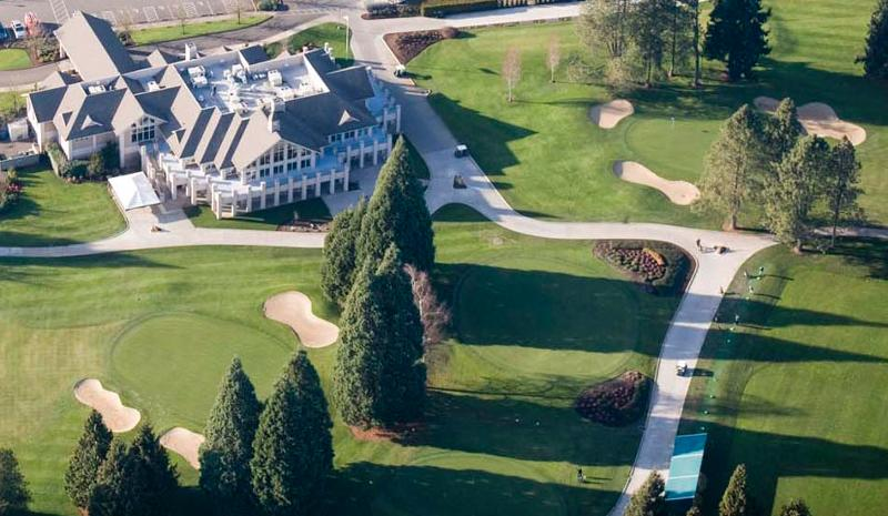 Aerial view of Willamette Valley Country Club