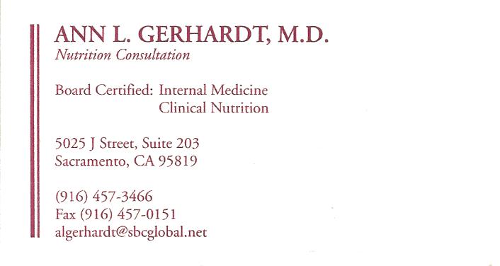 Ann Gerhardt MD Info