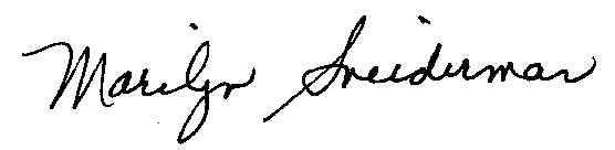 Marilyn Sneiderman Signature