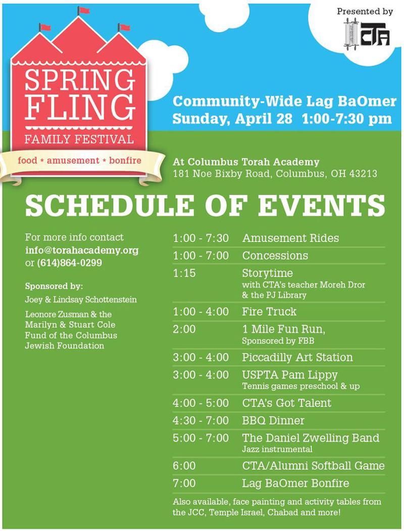 Spring Fling Schedule