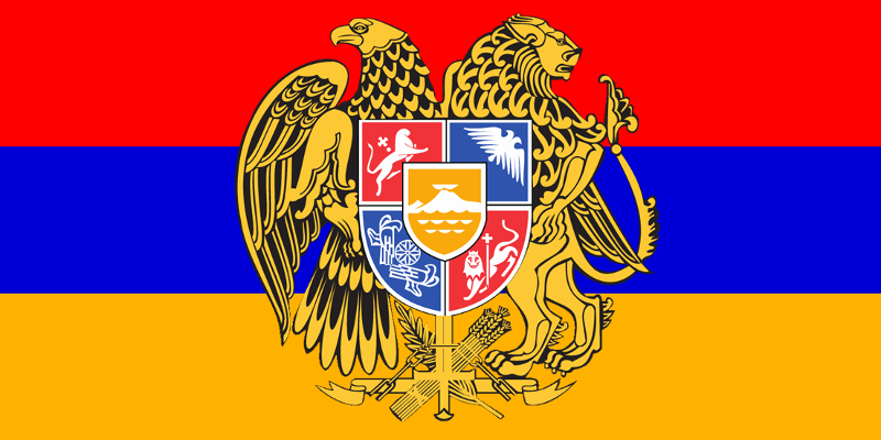 Armenian Flag and Coat of Arms