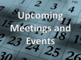 Upcoming Meetings and Events