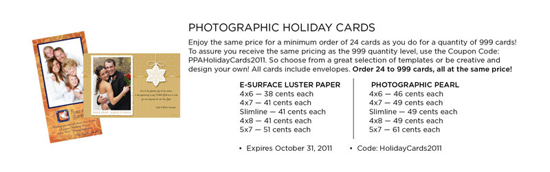 photo lab deals on dsigner holiday cards for photographers