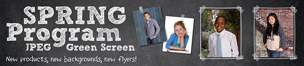 green screen school photography program