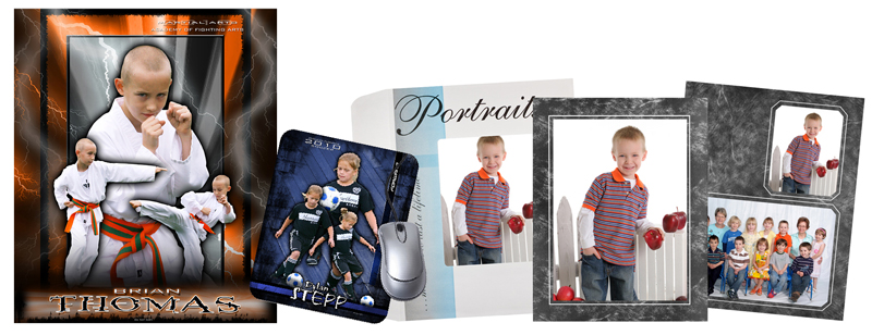 Collection of Jump Start School and Sports Photo Products