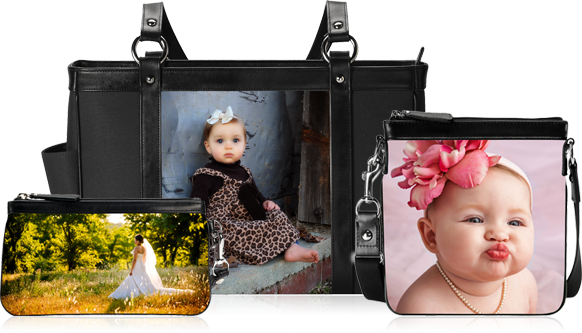 Leather and Fabric photo print Accessories