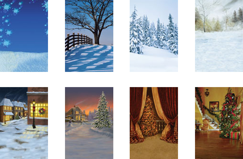 christmas greenscreen photography backgrounds